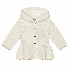 Baker by Ted Baker - Baby girls' cream chunky knit hooded jumper