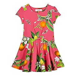 Baker by Ted Baker - Girl's dark pink printed dress