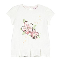 Baker by Ted Baker - Girl's off white floral sequin top