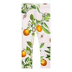 Baker by Ted Baker - Girl's pink floral leggings