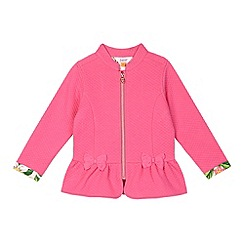 Baker by Ted Baker - Girl's pink quilted bow jacket