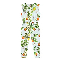 Baker by Ted Baker - Girl's light blue fruit print jumpsuit