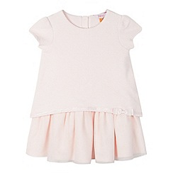 Baker by Ted Baker - Girl's light pink 2-in-1 top and mesh skirt dress