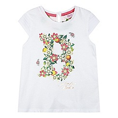 Baker by Ted Baker - Girl's white floral logo t-shirt