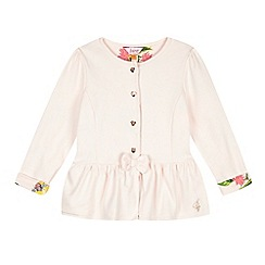 Baker by Ted Baker - Girl's light pink peplum sweat jacket