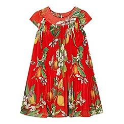 Baker by Ted Baker - Girl's red fruit print pleated dress