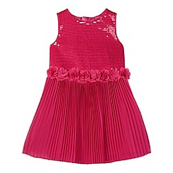 Baker by Ted Baker - Girl's dark pink sequinned bodice tulle skirt dress