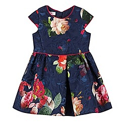 Baker by Ted Baker - Girl's navy jacquard floral prom dress