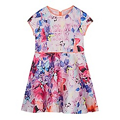 Baker by Ted Baker - Girl's pink butterfly print prom dress