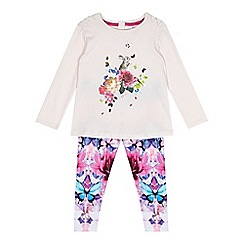 Baker by Ted Baker - Girl's pink floral top and leggings set