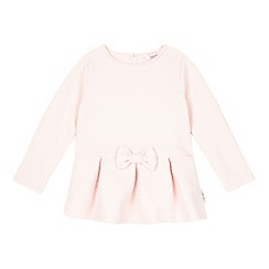 Baker by Ted Baker - Girl's pink jacquard peplum top