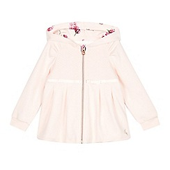 Baker by Ted Baker - Girl's light pink quilted hoodie