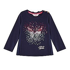 Baker by Ted Baker - Girl's navy sequin butterfly top
