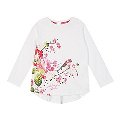 Baker by Ted Baker - Girl's white bird and flower print top