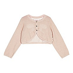 Baker by Ted Baker - Girl's pink metallic knit cover up
