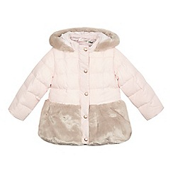 Baker by Ted Baker - Girls' pink quilted and faux fur coat