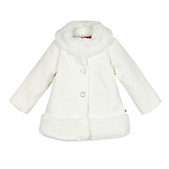 Baker by Ted Baker - Girl's off white faux fur edge dress coat