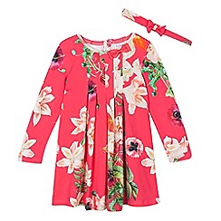 Baker by Ted Baker - Girls' pink floral dress and headband set