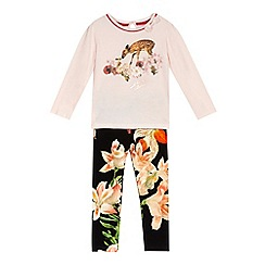 Baker by Ted Baker - Girls' light pink t-shirt and leggings set