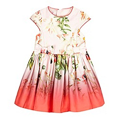 Baker by Ted Baker - Girls' dark pink bloom dress
