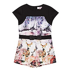 Baker by Ted Baker - Girls' black deer print playsuit