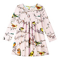 Baker by Ted Baker - Girl's light pink bird and branch printed jersey dress