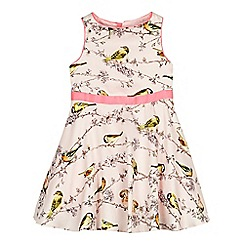 Baker by Ted Baker - Girl's light pink bird and branch print prom dress