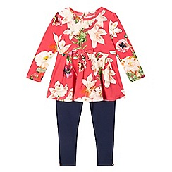 Baker by Ted Baker - Girls' pink floral dress and leggings set