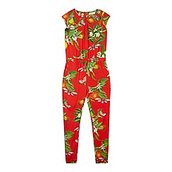 Baker by Ted Baker - Girl's red fruit print jumpsuit