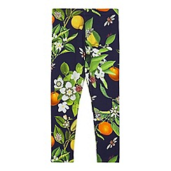 Baker by Ted Baker - Girl's navy floral print leggings