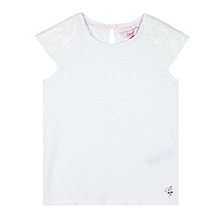 Baker by Ted Baker - Girl's white sequin t-shirt