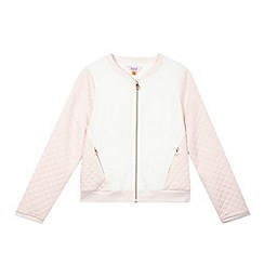 Baker by Ted Baker - Girl's white fabric contrast bomber jacket