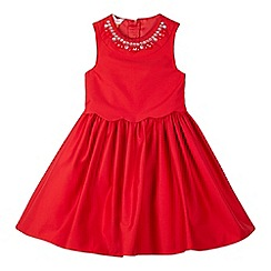 Baker by Ted Baker - Girl's red jewelled neck prom dress
