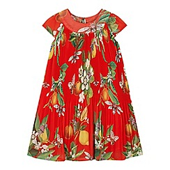 Baker by Ted Baker - Girl's red fruit print pleated dress