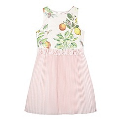 Baker by Ted Baker - Girl's light pink sequinned bodice tulle skirt dress