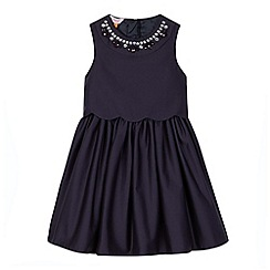 Baker by Ted Baker - Girl's navy embellished neck dress