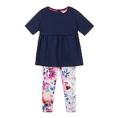 Baker by Ted Baker - Girl's navy tunic and leggings set