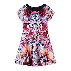 Baker by Ted Baker - Girl's pink graphic floral scuba dress