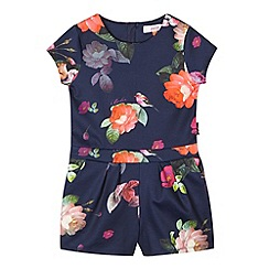 Baker by Ted Baker - Girl's navy floral playsuit