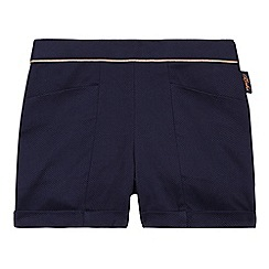 Baker by Ted Baker - Girl's navy jacquard shorts