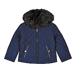 Baker by Ted Baker - Girl's navy quilted jacket