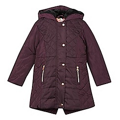 Baker by Ted Baker - Girl's purple quilted fleece lined jacket
