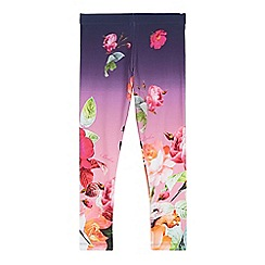 Baker by Ted Baker - Girl's purple rose print leggings