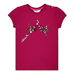 Baker by Ted Baker - Girl's purple sequin birds t-shirt