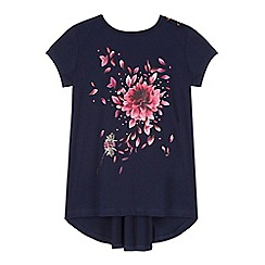 Baker by Ted Baker - Girl's navy tulip graphic t-shirt