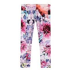 Baker by Ted Baker - Girl's pink crystal floral print leggings