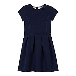 Baker by Ted Baker - Girl's navy quilted jersey dress