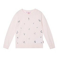 Baker by Ted Baker - Light pink jewelled knit jumper
