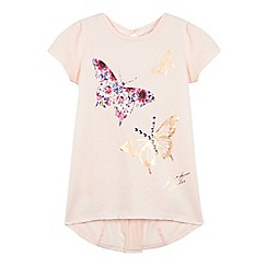 Baker by Ted Baker - Girl's light pink butterfly graphic t-shirt