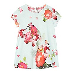 Baker by Ted Baker - Girl's light green flower and bird print top